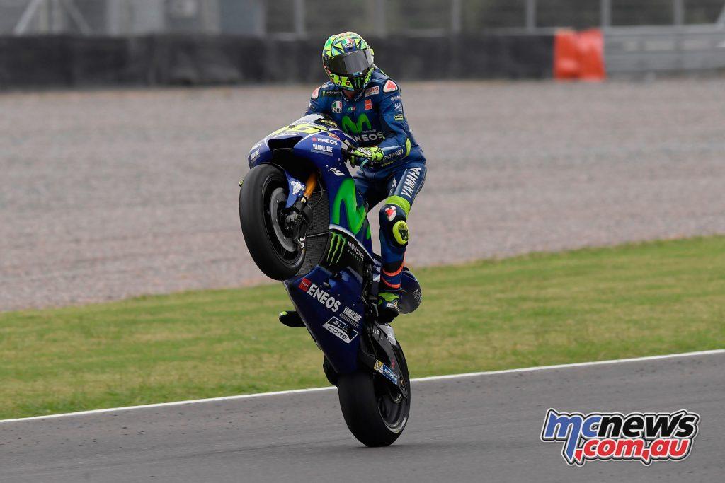 Valentino Rossi celebrates P2