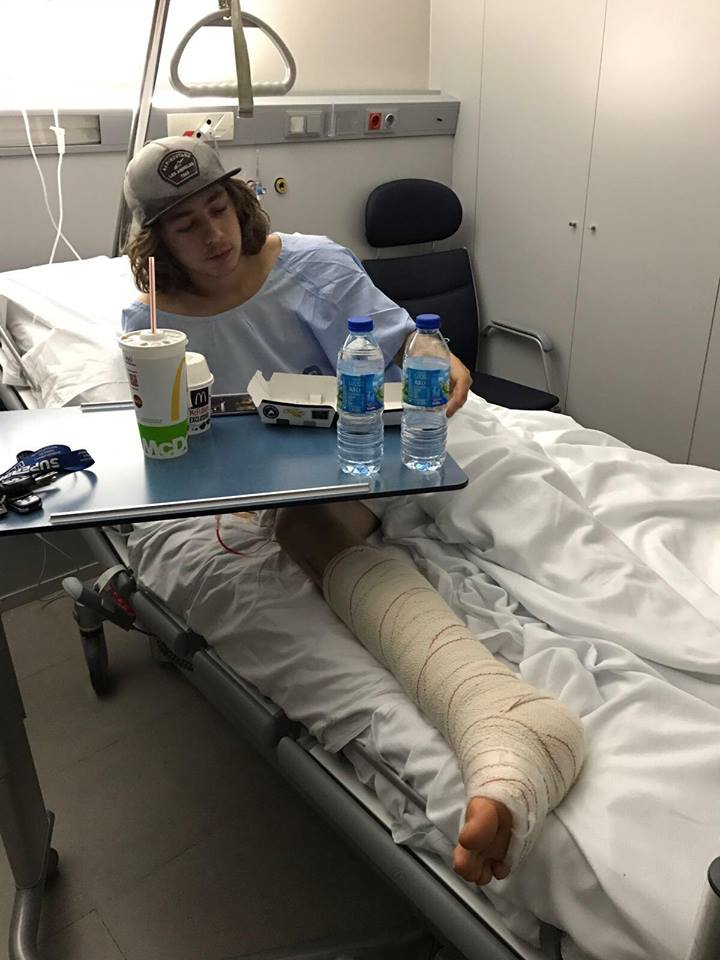 Remy Gardner in hospital recovering from surgery