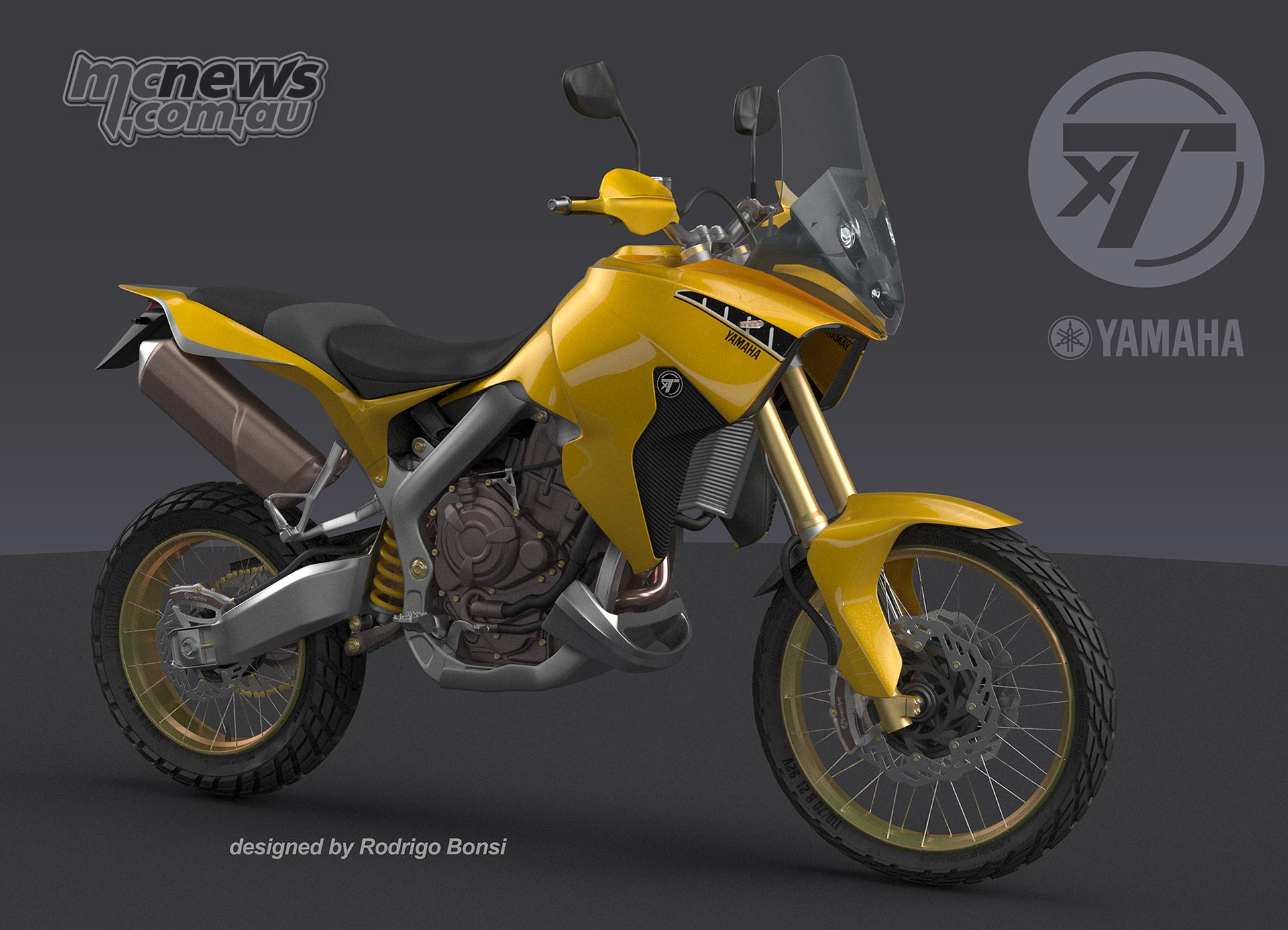 xT7 concept design - Yamaha MT-07 based Tenere - By Rodrigo Bonsi