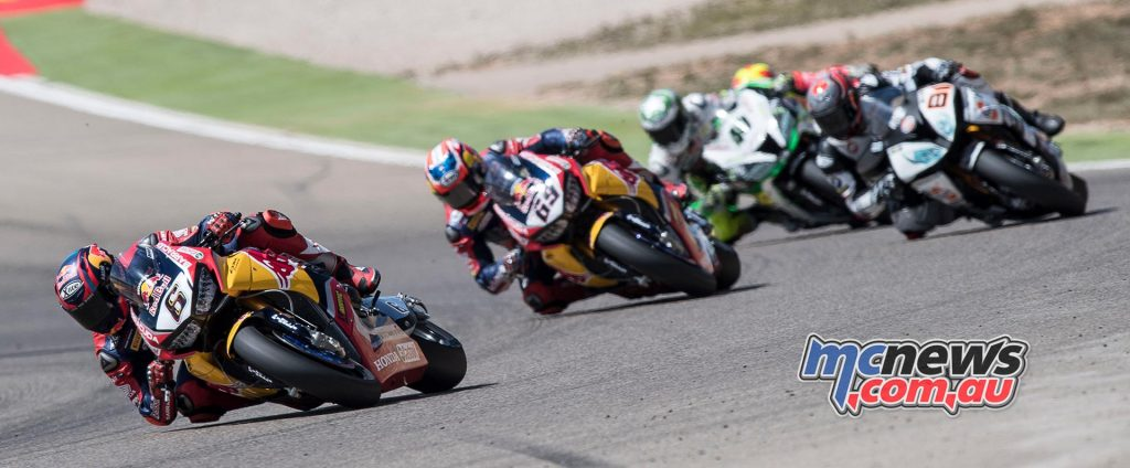 Bradl leads Hayden at Aragon