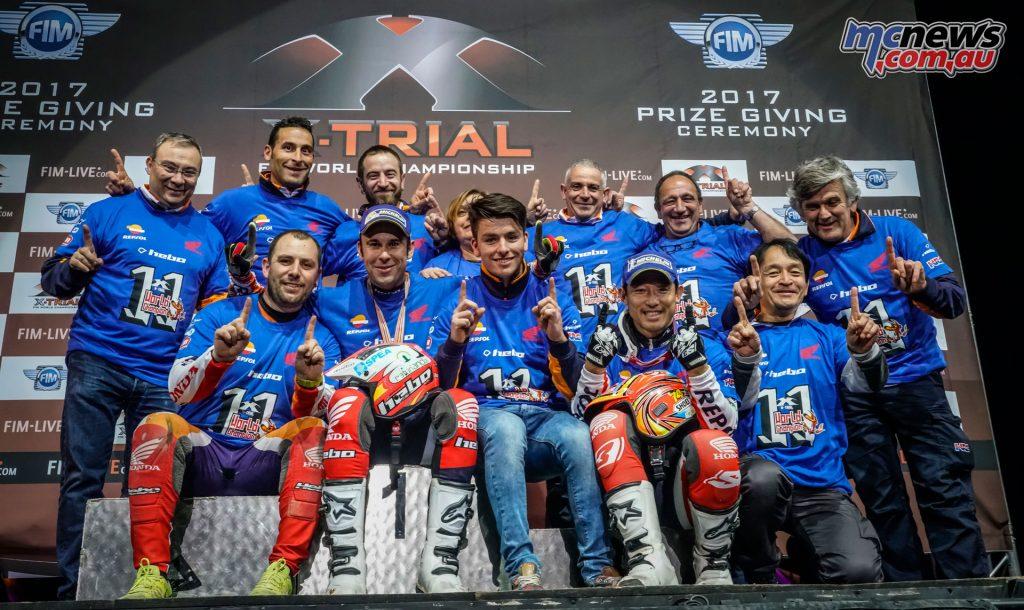 Toni Bou and the Repsol Honda Team
