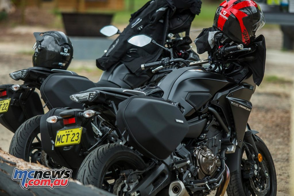 In Australia the MT-07 Tracer comes standard with the saddlebags
