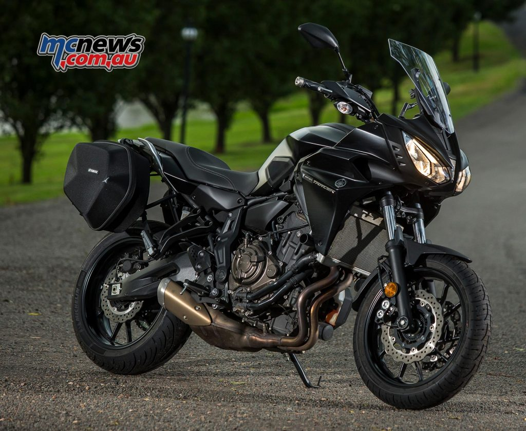 2017 Yamaha MT-07 Tracer in Tech Black