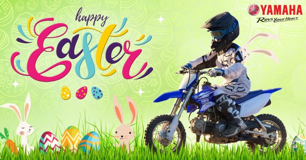 Yamaha's 2017 Easter mini bike promo