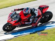 Mike Jones in action at Donington