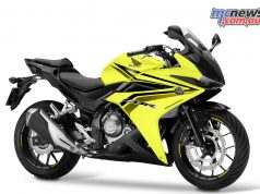2017 Honda CBR500R sporting the new Lemon Ice Yellow colour scheme