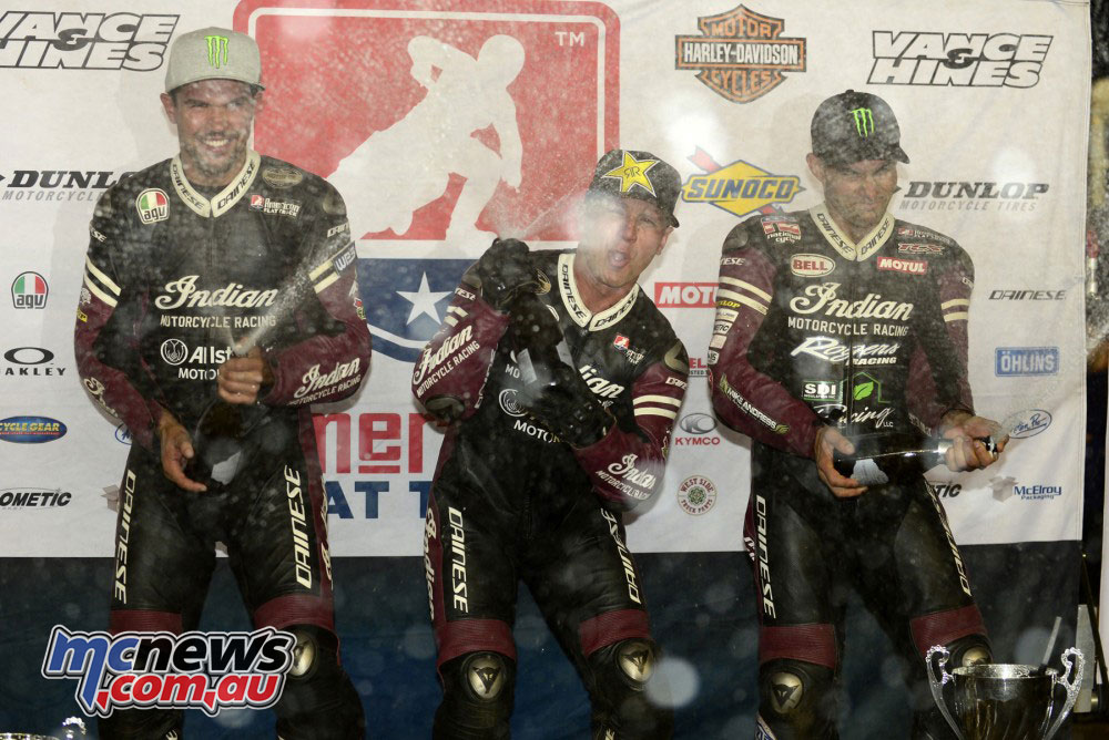 The Indian Wrecking Crew took the top three at Sacramento mile