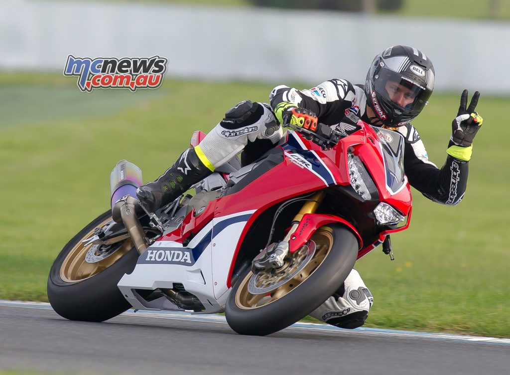 Troy Herfoss was happy with the extra power of the new Fireblade - Image by RM