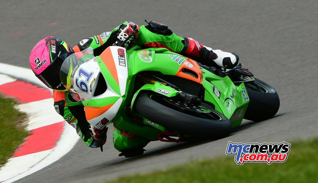 Ben Currie is currently third in BSB Supersport on 79-points.