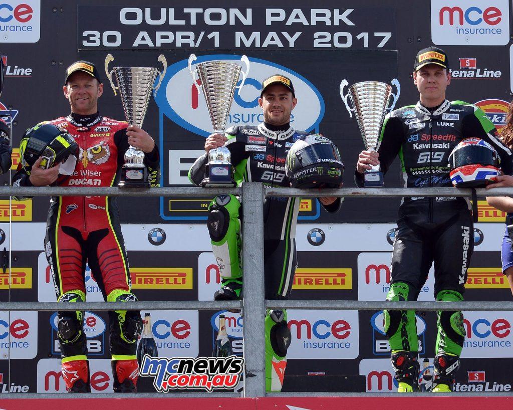 MCE Insurance British Superbike Championship, Oulton Park, Race One Podium