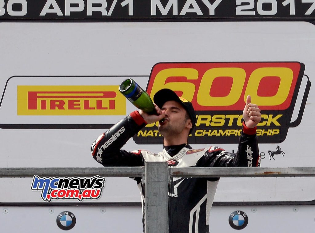 Arthur Sissis dominated on drying track to win the Oulton Park Superstock 600 race by 11-seconds