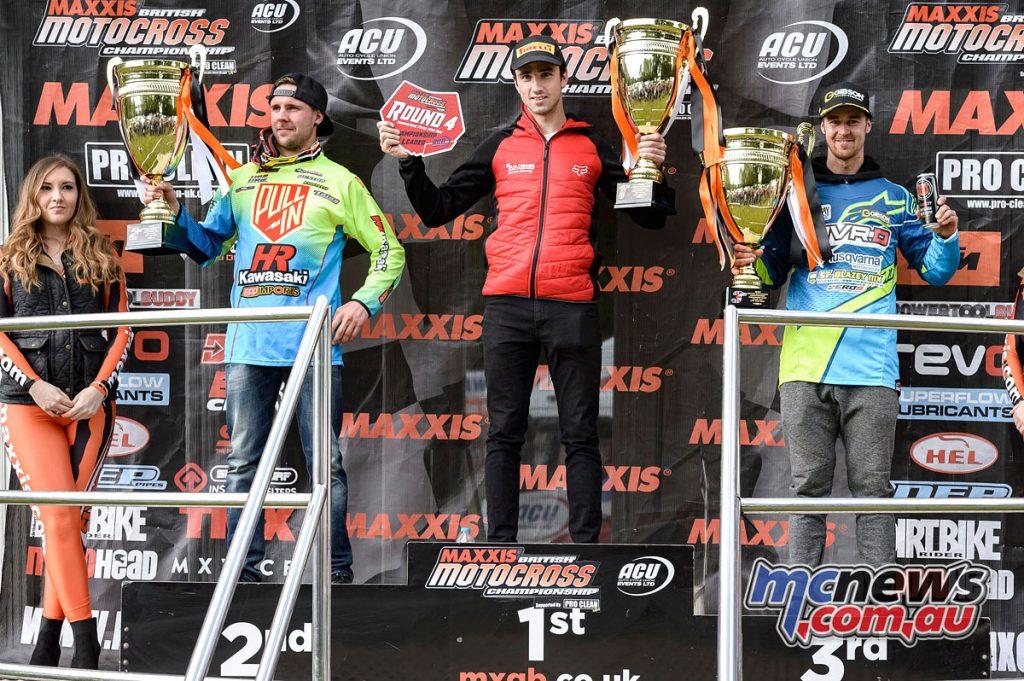 Graeme Irwin wins the British Motocross round at Hawkstone in MX1