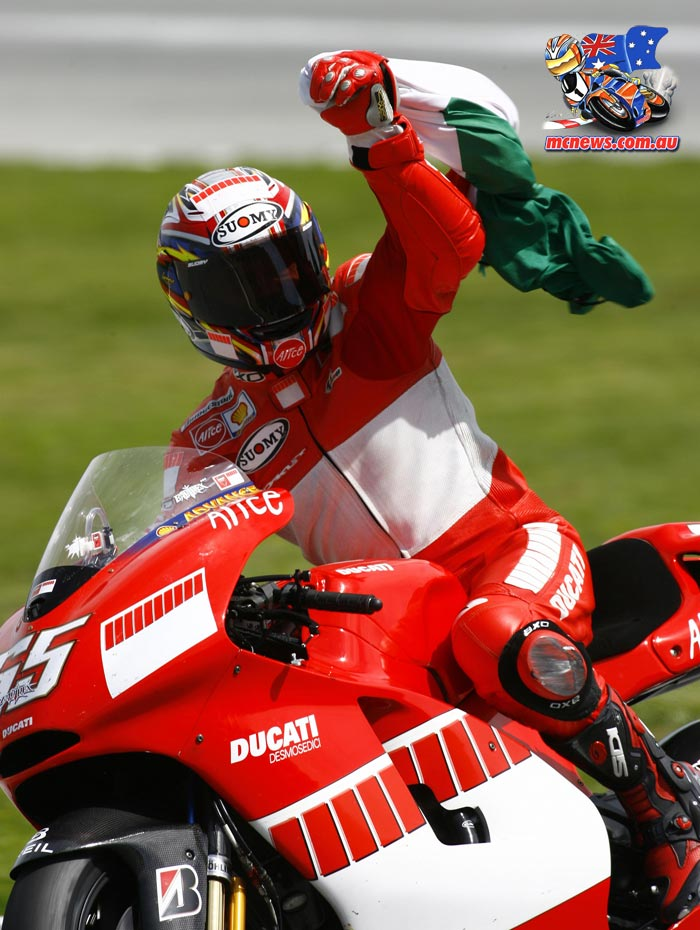Loris Capirossi took victory at Jerez in 2006 on a Ducati