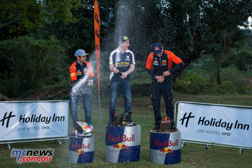Enduro Rally 2017 Podium - Gomez (third), Jarvis (first), Webb (second)