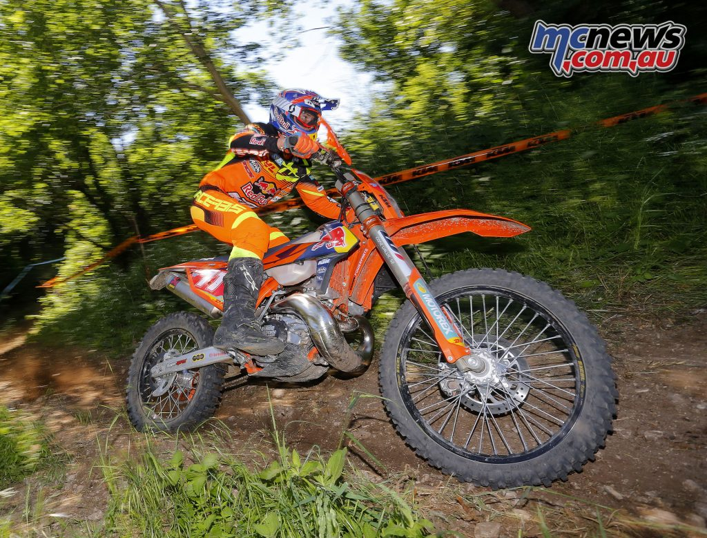 Daniel Sanders is currently sixth overall following Round 3 at the EnduroGP of Italy