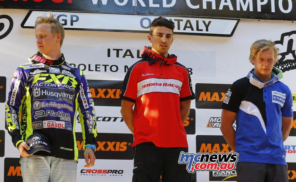 EnduroGP of Italy 2017 - Junior Day 1 Podium
