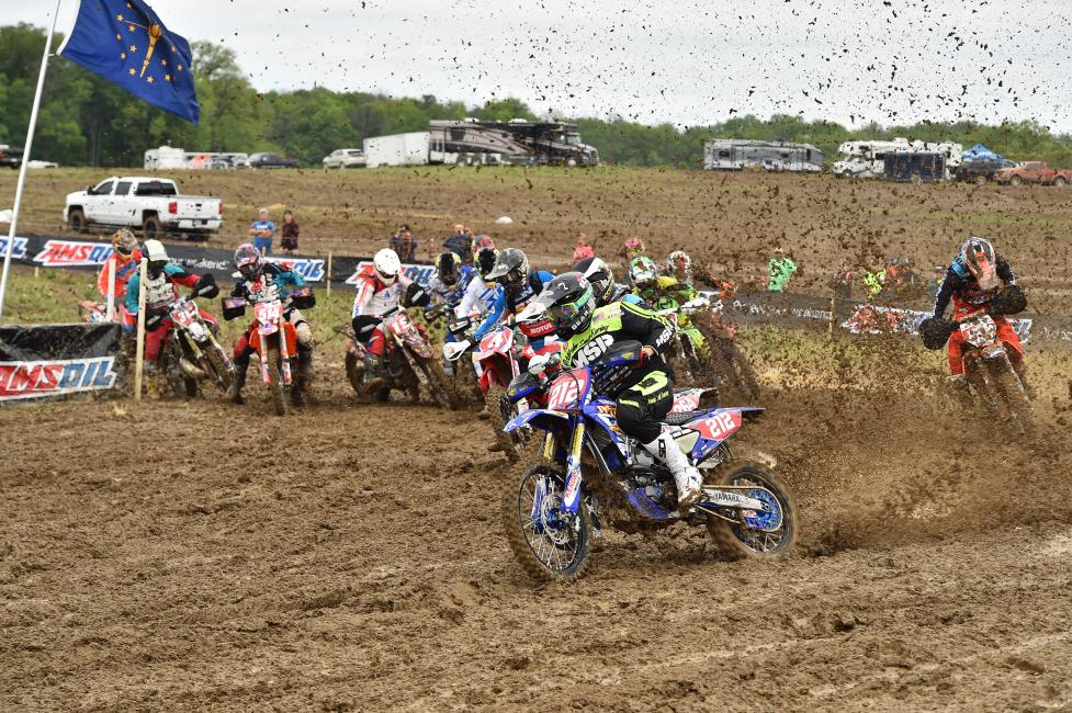 Ricky Russell takes the holeshot