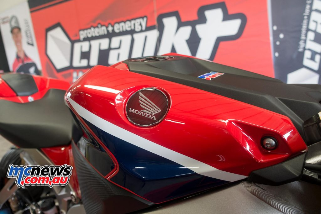 Crankt Protein Honda Racing got to sample the new SP2 Fireblade for the first time - Image by TH