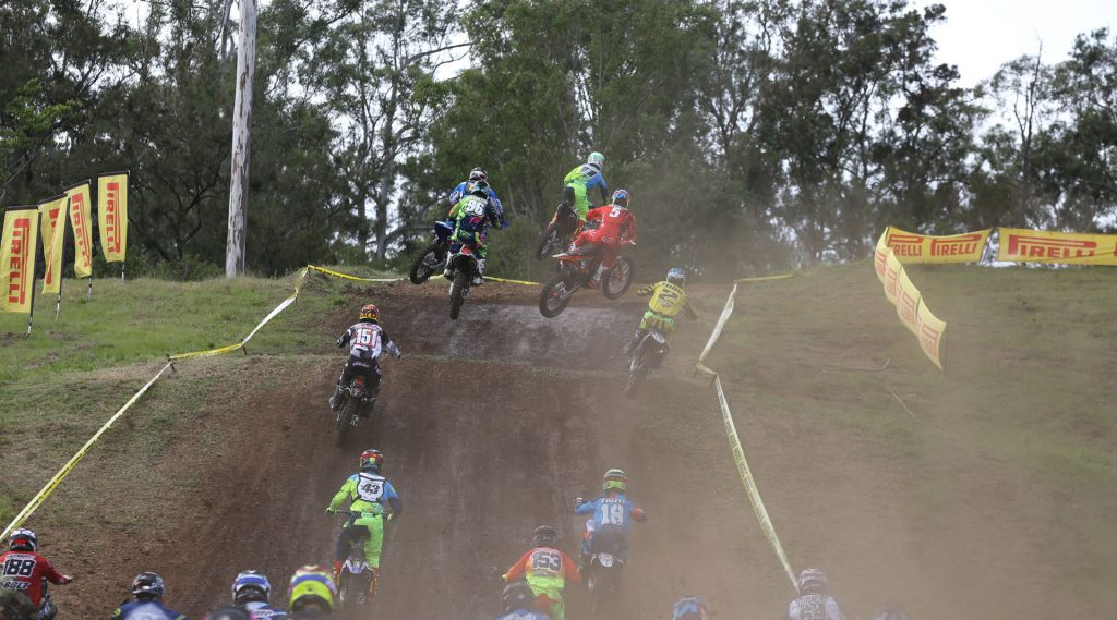 MX2 field at the MX Nationals Round 3