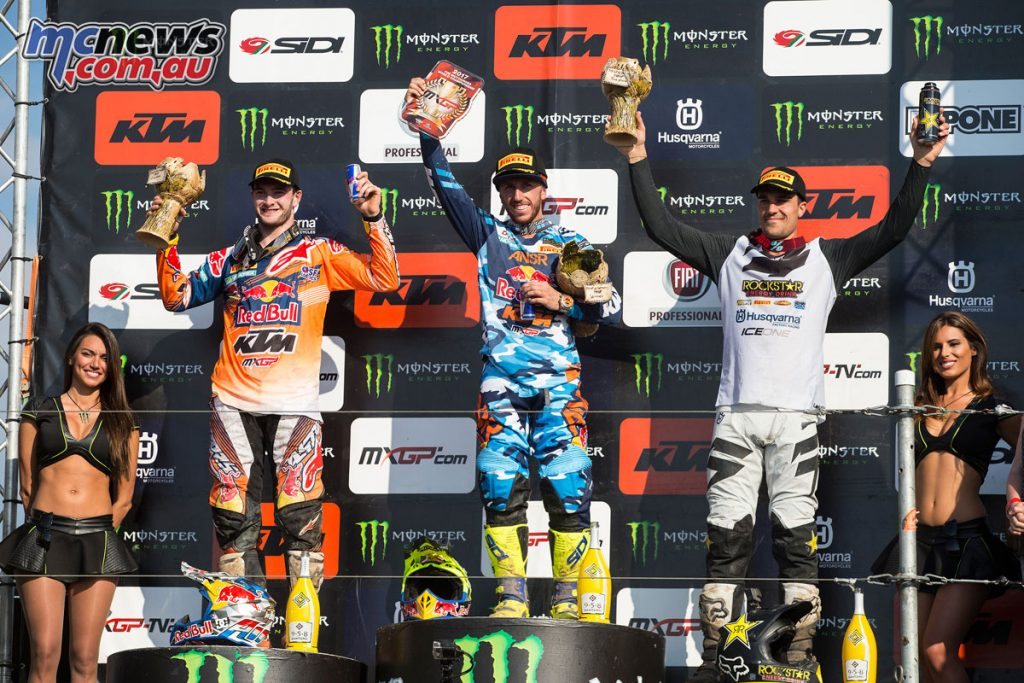 MXGP of Germany overall podium