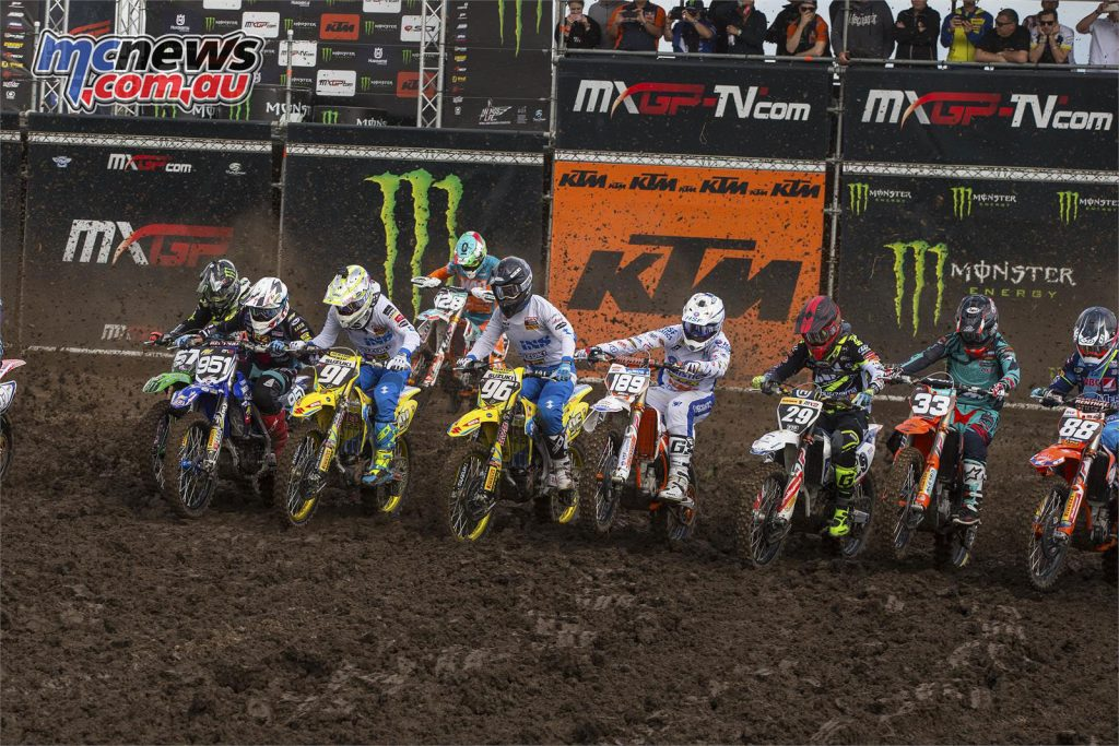 Seewer leading the MX2 field from the start