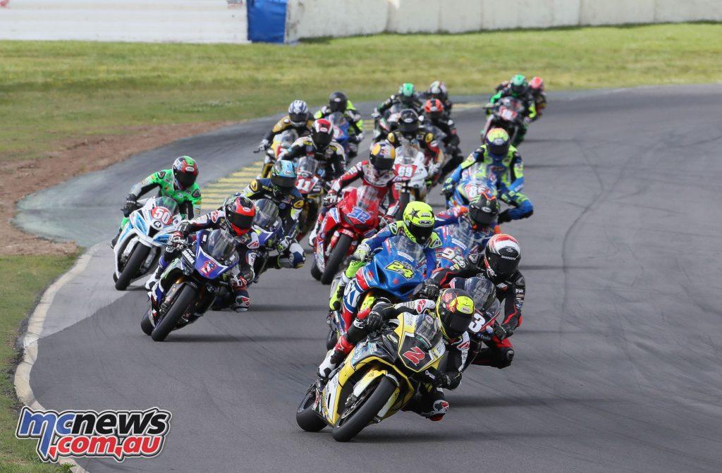 Cameron Beaubier leads the Superbike field
