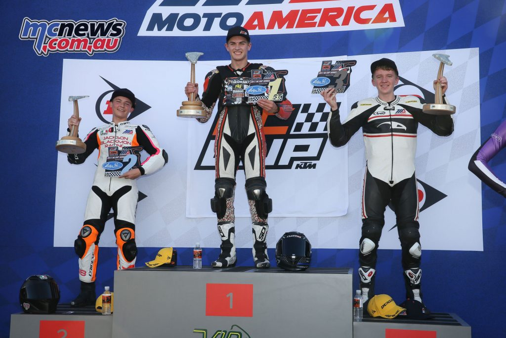 Race 1 KTM RC390 Cup Podium