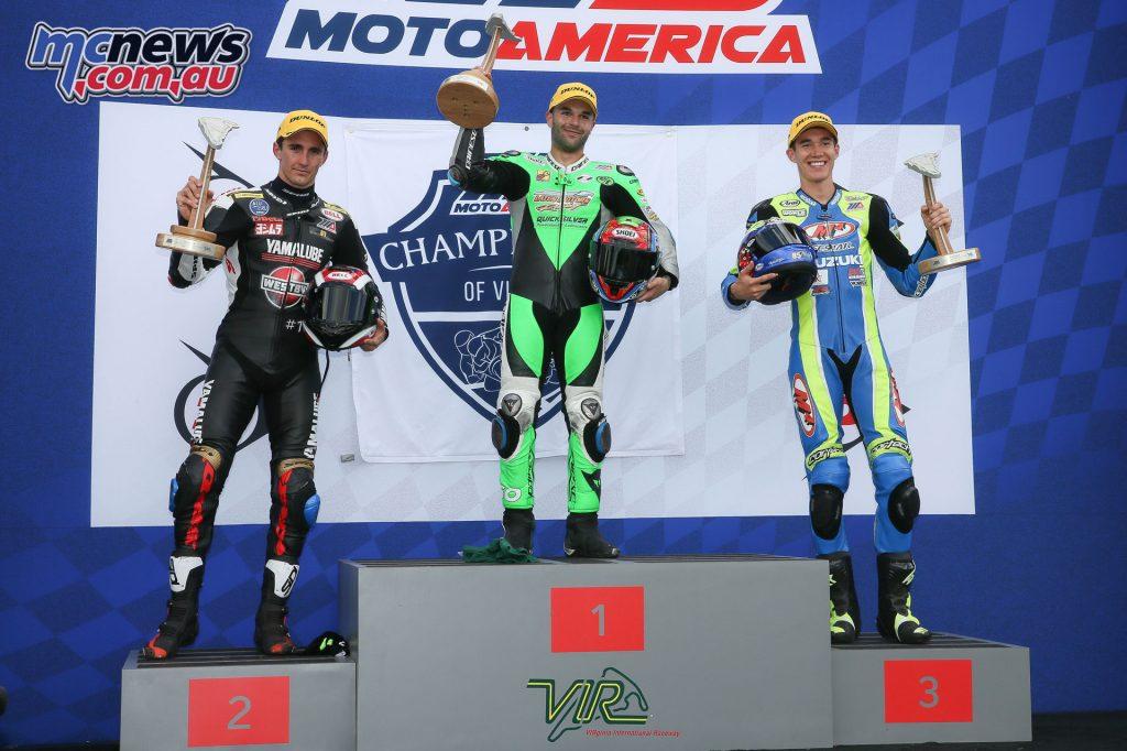 Race 1 Superstock 1000 Podium