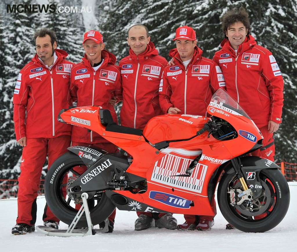 Nicky Hayden with Casey Stoner as teammates in 2010