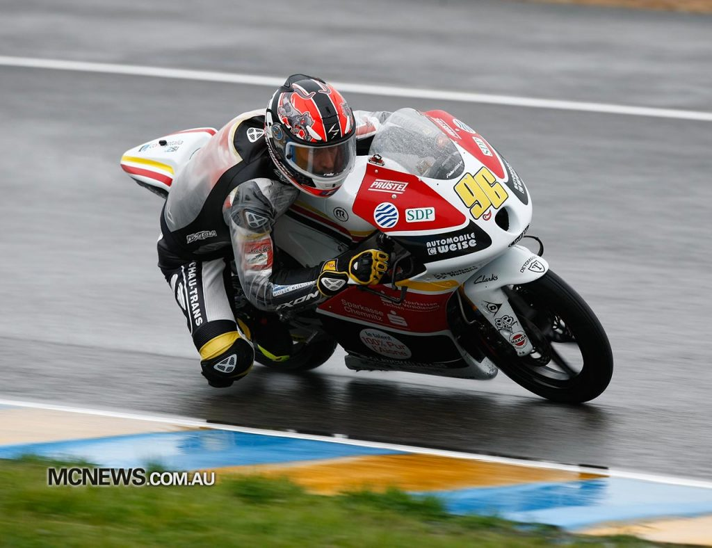 Louis Rossi on the way to Moto3 victory in 2012