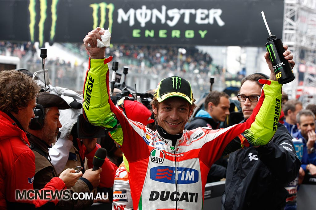 Valentino Rossi was second at Le Mans in 2012 on a Ducati