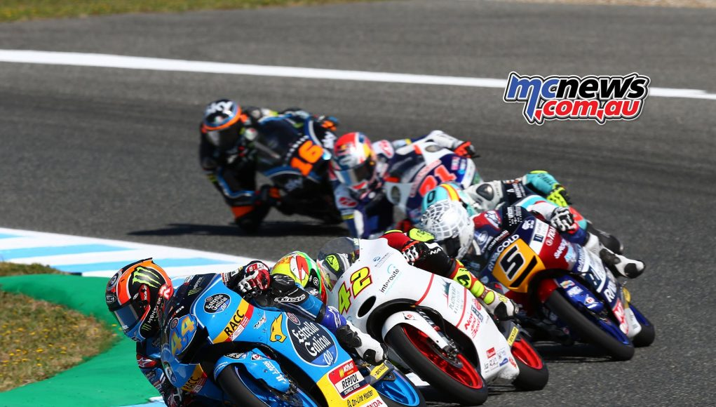 Aron Canet on his way to Moto3 victory at Jerez 2017