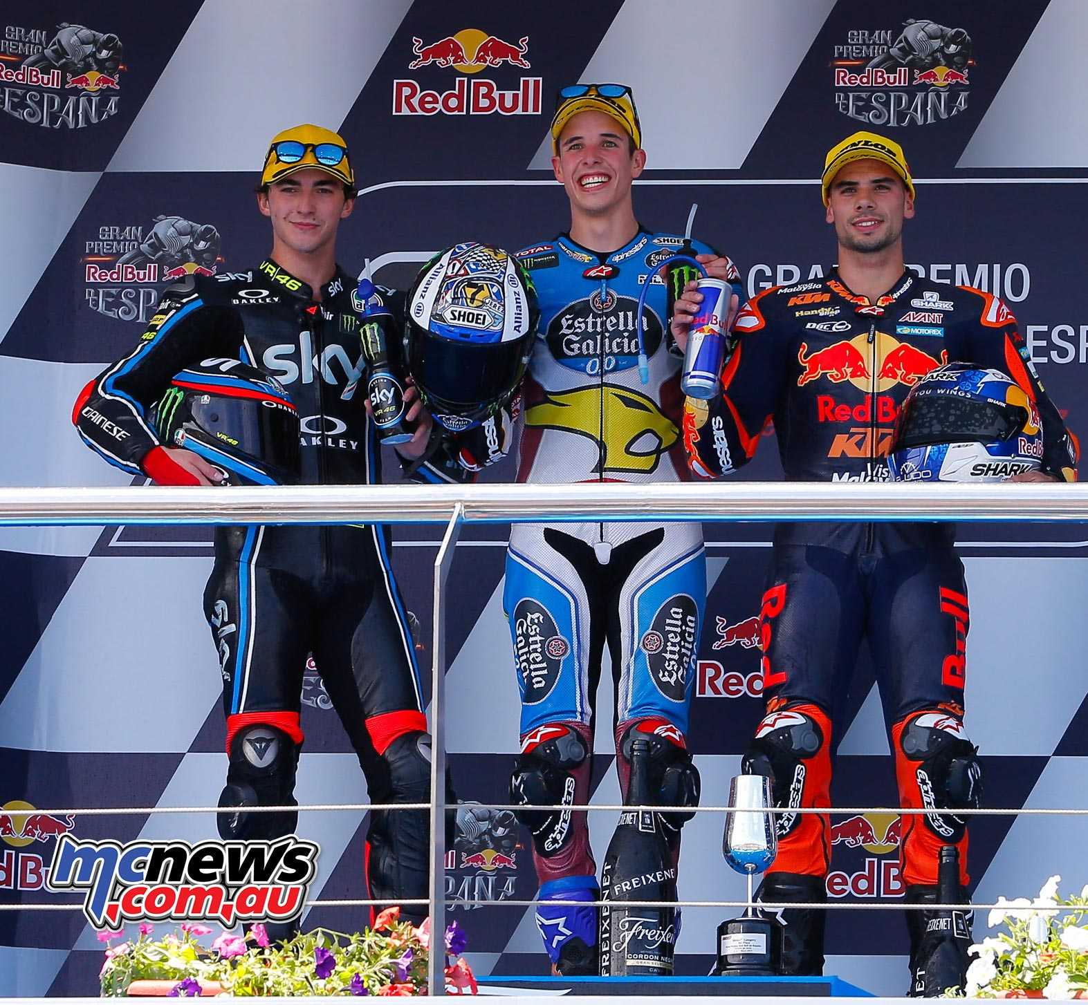 Alex Marquez topped thje Moto2 Podium at Jerez 2017