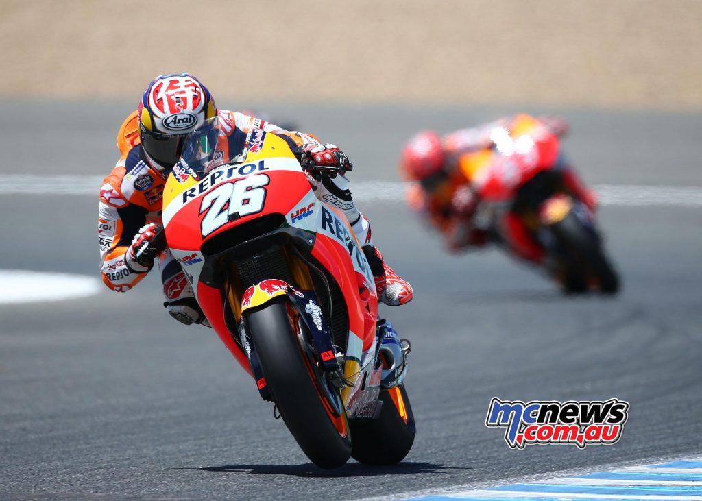 Dani Pedrosa led Marquez home at Jerez