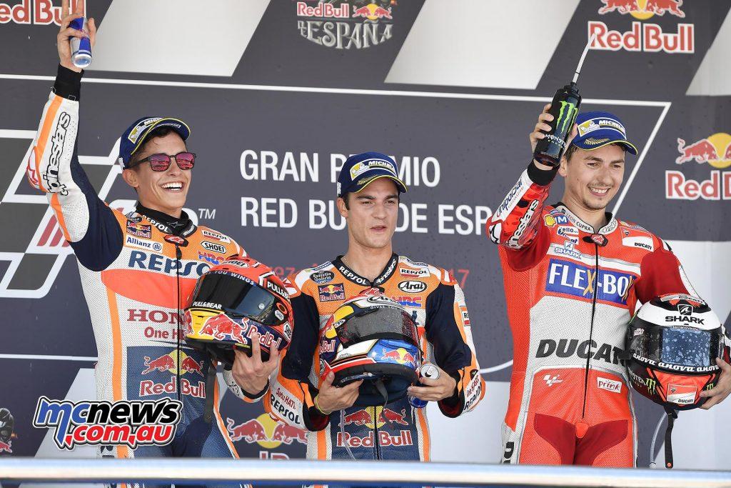 The all Spanish podium at Jerez 2017