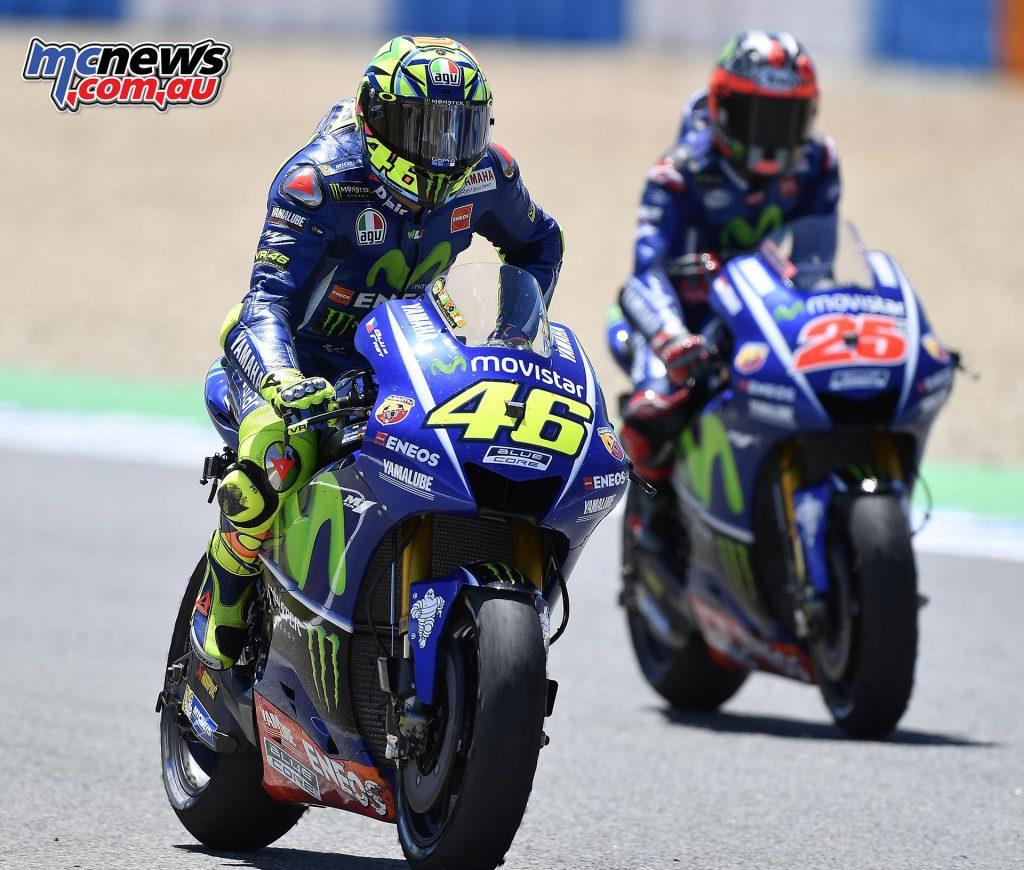 Valentino Rossi and Maverick Vinales