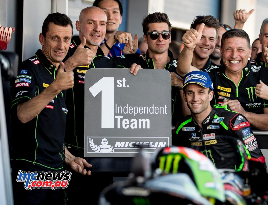Johann Zarco at Jerez with the Tech3 Yamaha squad
