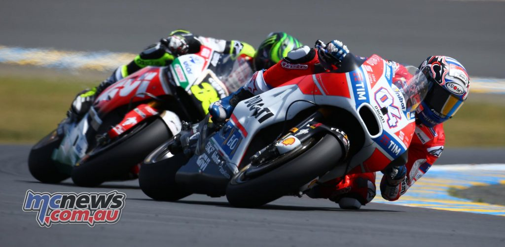 Andrea Dovizioso and Cal Crutchlow at Le Mans #FrenchGP