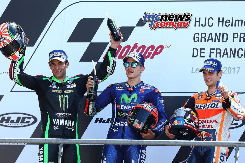 Podium - Le Mans MotoGP 2017