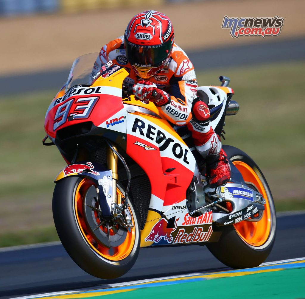 There's no doubt that Marquez has the speed but his season so far has been punctuated by DNF results