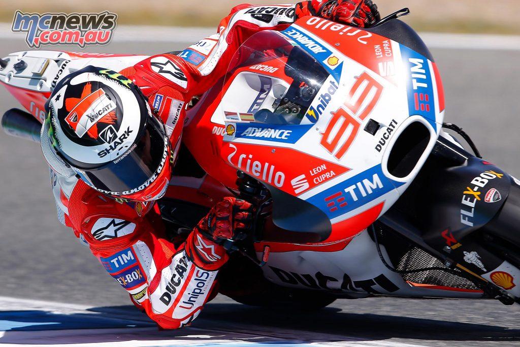 Jorge Lorenzo on the Ducati