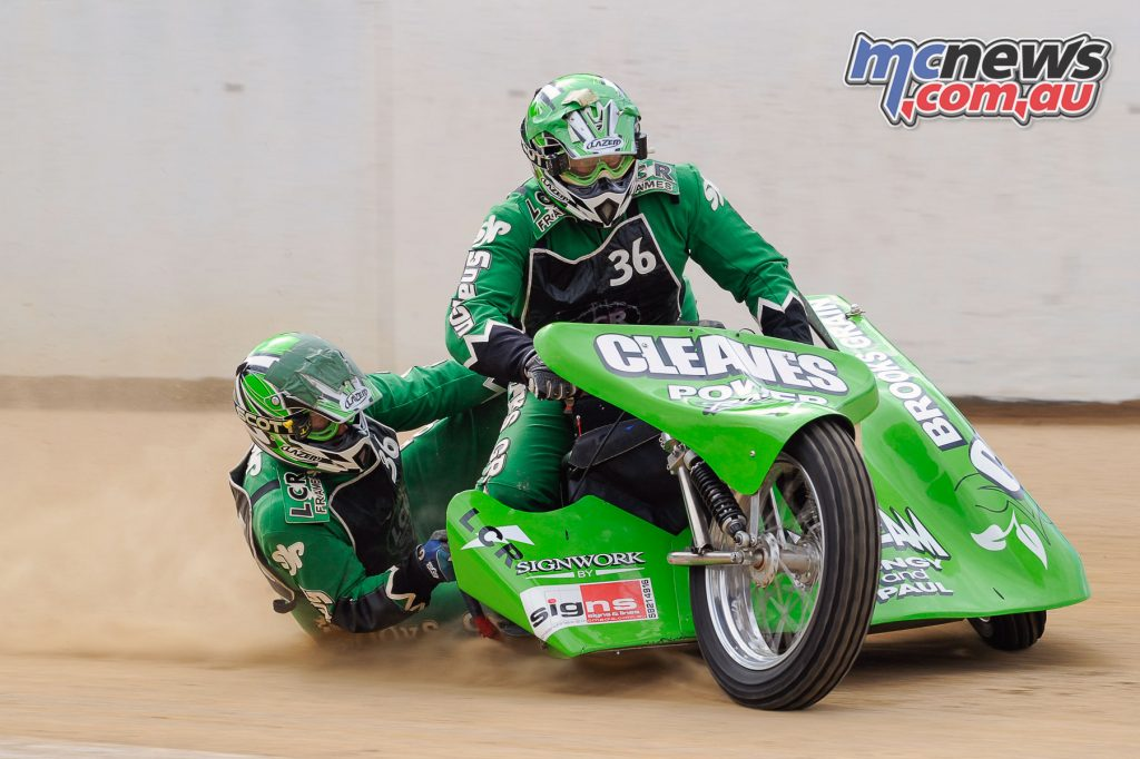 Former Australian Sidecar Racing Champions Andrew Cleave and Dave Power