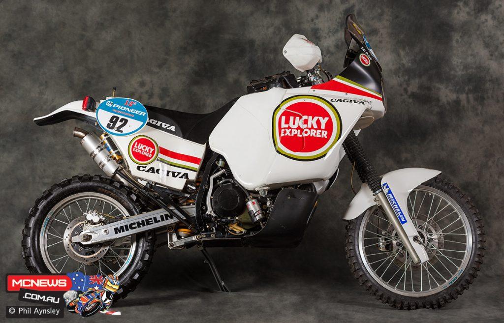 1990 Edi Orioli Cagiva Paris-Dakar Racer