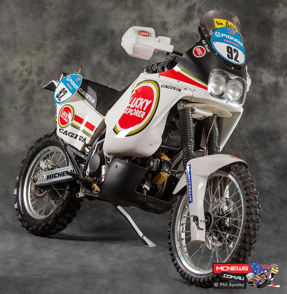Edi Orioli Cagiva Paris Dakar Racer With Phil Aynsley