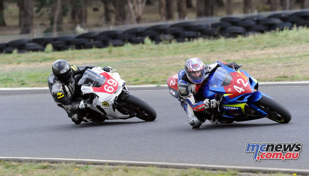 David Buonopane (42A) leading in the Advanced Group at Preston Bracket Racing Day 2