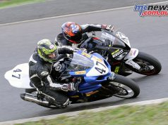 Joel Jenkins (77) leads Michael Crowe (61)