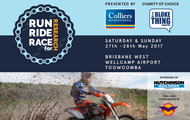 Kirk Hutton will be attending the Run Ride Race 4 Research charity event with the Yamaha bLU cRU in Toowoomba QLD this weekend