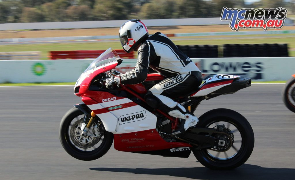 David Simpson on his Ducati 999