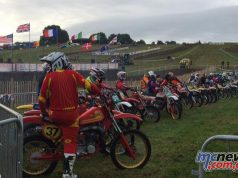 The field at the Veteran Motocross des Nation