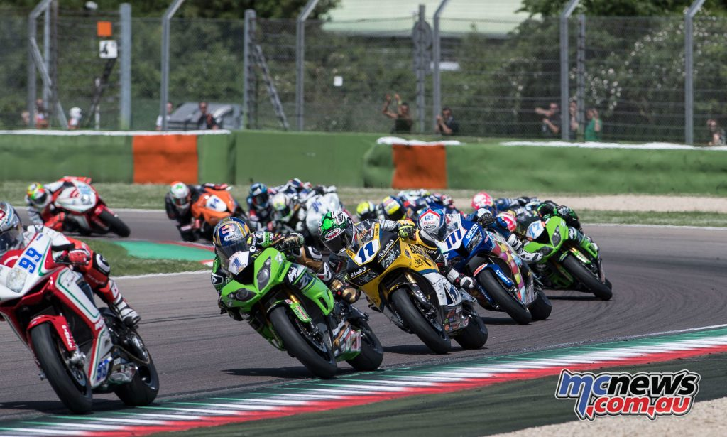 World Supersport field at Imola